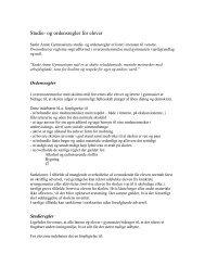 Studie- og ordensregler for elever - Sankt Annæ Gymnasium