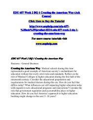 EDU 657 Week 2 DQ 1 Creating the American Way (Ash Course)/UOPHELP