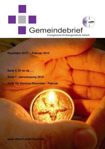 Dezember 2012 - Februar 2013 - Evangelische Kirchengemeinde ...