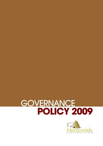 POLICY 2009 - THE LOCAL GOVERNMENT PENSION SCHEME