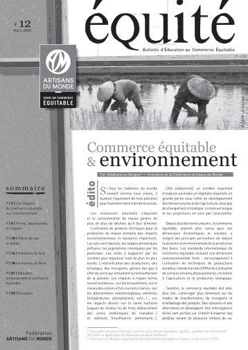 Commerce équitable et environnement - la Plate-Forme pour le ...