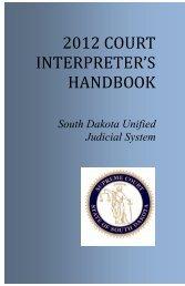 2012 Court Interpreter's Handbook - Unified Judicial System