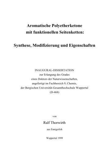 Aromatische Polyetherketone mit funktionellen Seitenketten ...