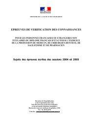 Annales du concours NPR (NPA) 2004-2005 - Ovh