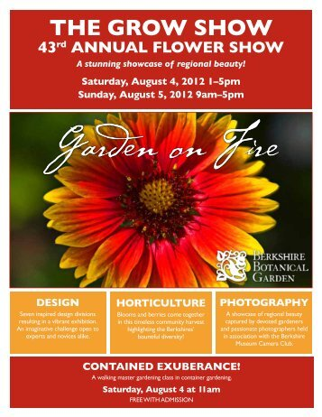 the grow show - Berkshire Botanical Garden