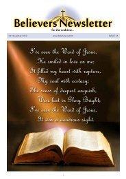 November - Believer's Newsletter Website