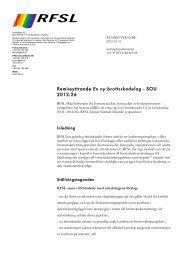 Remissyttrande En ny brottsskadelag - SOU 2012:26 - RFSL
