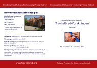 Tro-helbred-forskningen - Research in Faith and Health