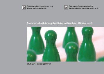 Flyer Steinbeis Mediator - Institut für Kommunikation und Mediation ...