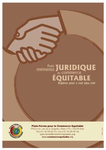 Guide juridique du commerce équitable - PFCE - la Plate-Forme ...