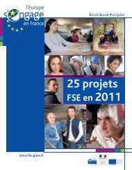 RAE - Annexe : 25 projets FSE en 2011