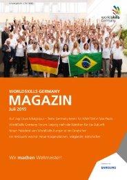 WorldSkills Germany - Magazin 2015