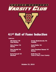 BC Hall of Fame Inducts Eight New Members. - Graber Associates