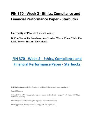 starbucks ethics and compliance