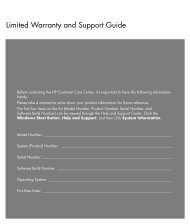 Limited Warranty and Support Guide - ComDaC