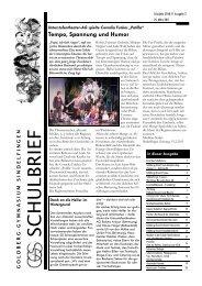 Schulbrief 2010/11, Nr.2