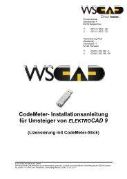 CodeMeter- Installationsanleitung für Umsteiger von ... - wscad