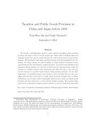 Taxation and Public Goods Provision in China ... - Cliometric Society