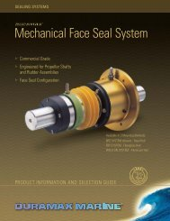 Mechanical Face Seal System - Duramax Marine