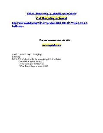 ABS 417 Week 5 DQ 2.pdf