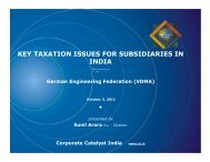 Key Taxation Issues for Subsidiaries in India (October 2011)