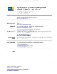 sulphate for treating acute asthma A meta-analysis on intravenous ...