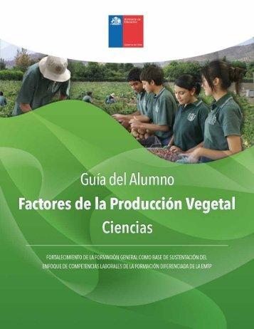 Factores de la Producción Vegetal - Ministerio de Educación