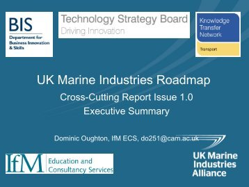 UK Marine Industries Roadmap - Society of Maritime Industries