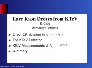 Rare Kaon Decays from KTeV - High Energy Physics UPRM