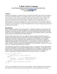 N-Body Pattern Language - Par Lab