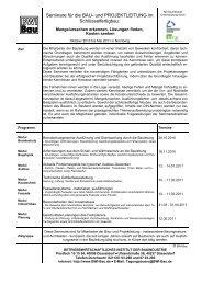 Seminare für die BAU- und PROJEKTLEITUNG im Schlüsselfertigbau: