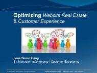 Optimizing Website Real Estate & Customer Experience - Affiliate ...