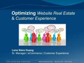 Optimizing Website Real Estate & Customer Experience - Affiliate ...