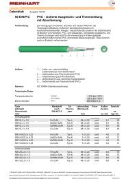 Datenblatt 90 E/N/P/C PVC - isolierte Ausgleichs - Meinhart Kabel ...