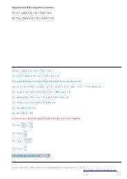 Résoudre dans ℝ les inéquations suivantes ...