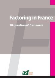 Factoring in France : 10 questions / 10 answers - ASF