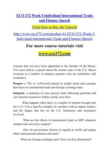 eco 372 week 3 essay example Eco 372 entire course for more course tutorials visit wwwuoptutorialcom eco 372 week 1 discussion question 1 eco 372 week 1 discussion question 2 eco 372 week 1 individual assignment term definition paper eco 372 week 2 discussion question 1 eco 372 week 2 group discussion question eco.