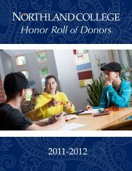 Honor Roll of Donors - Northland College