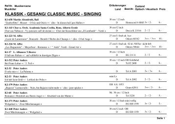 klassik - gesang/ classic music