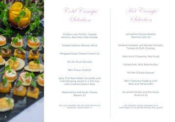 view menus - Ribby Hall Village