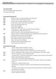 Biographie complète en pdf - Galerie Alain Gutharc