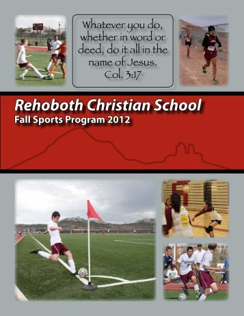 Rehoboth Christian School Fall Sports Program 2012