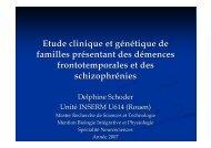 Etude clinique et génétique de familles présentant ... - CHU de Rouen