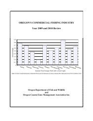 Oregon's Commercial Fishing Industry Year 2009 and 2010 Review