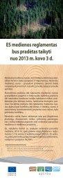 ES medienos reglamentas bus pradėtas taikyti nuo ... - EU Bookshop