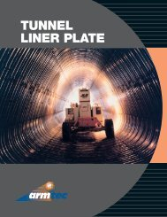 Applications for Armtec Tunnel Liner Plate