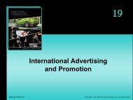 International Advertising and Promotion