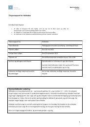 Tilsynsrapport for Helheden Formålet med tilsynet: Tilsynsrapport for ...