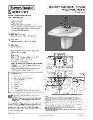 murro™ universal design wall-hung basin - Wolseley Express