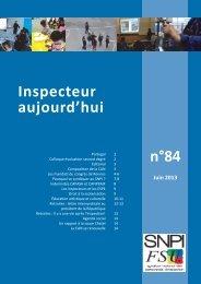 n°84 Inspecteur aujourd'hui - SNPI